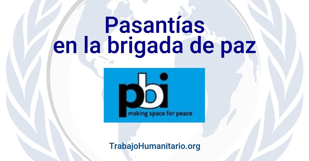Pasantías con la Brigada Internacional de Paz