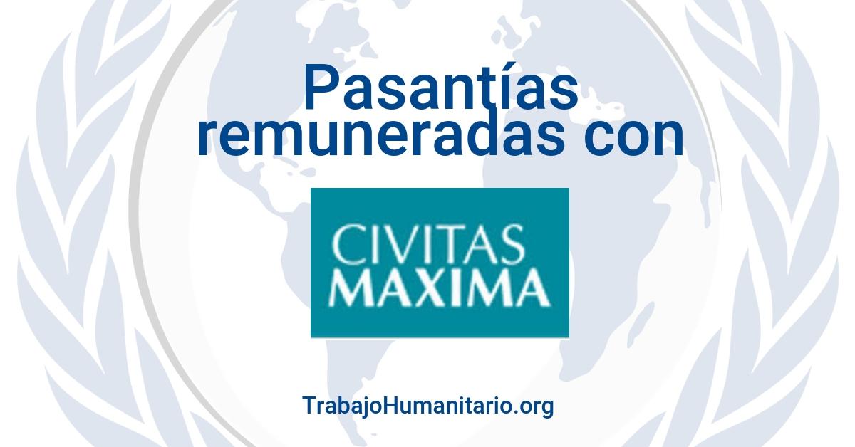 Pasantías remuneradas con Civitas Maxima