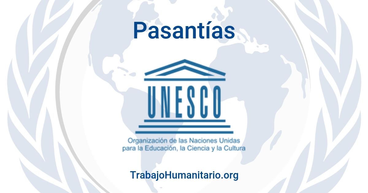 Pasantías con la UNESCO