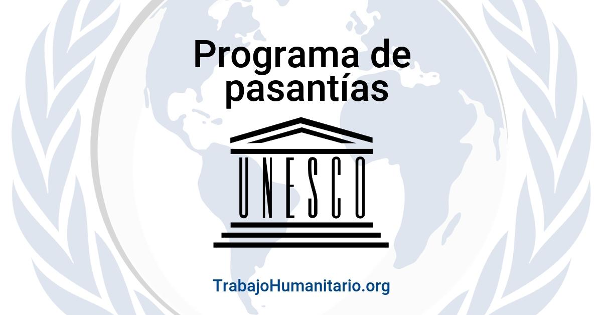 Haz tu pasantía con la UNESCO