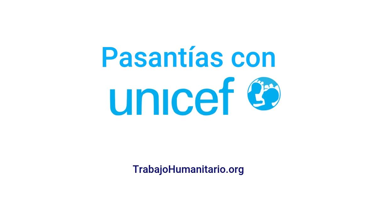 Programa de pasantías con UNICEF