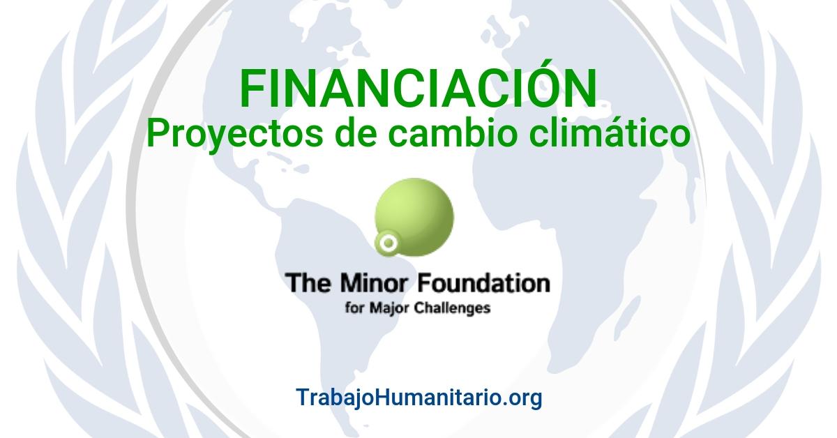 Financiación proyectos en cambio climático