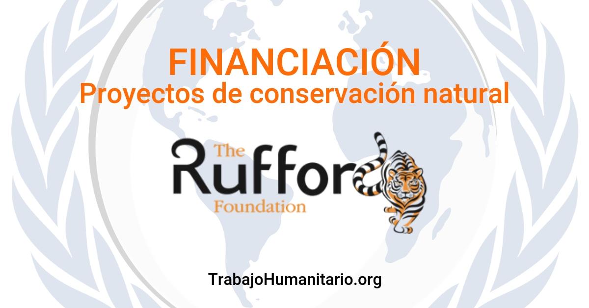 Subvenciones proyectos de conservación natural