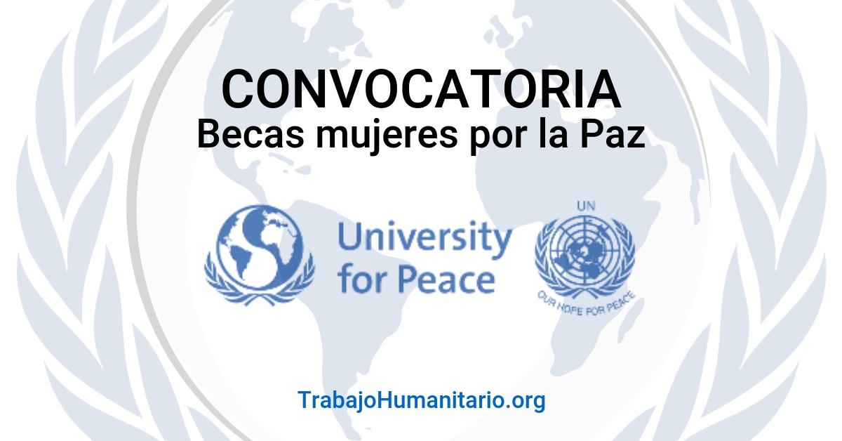 Beca completa de Naciones Unidas: Curso mujeres por la paz