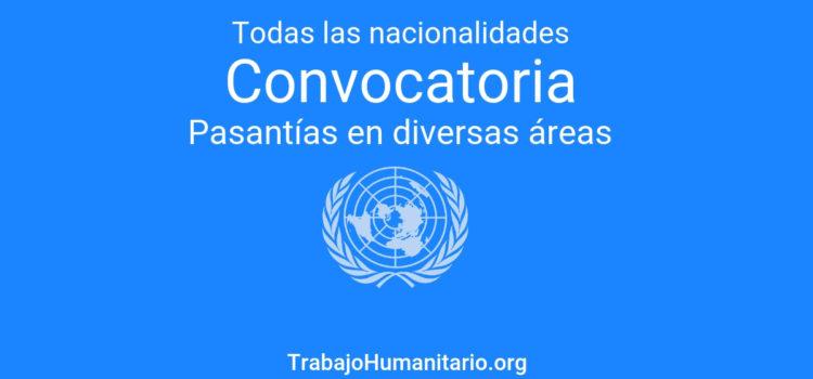 Pasantías con las Naciones Unidas