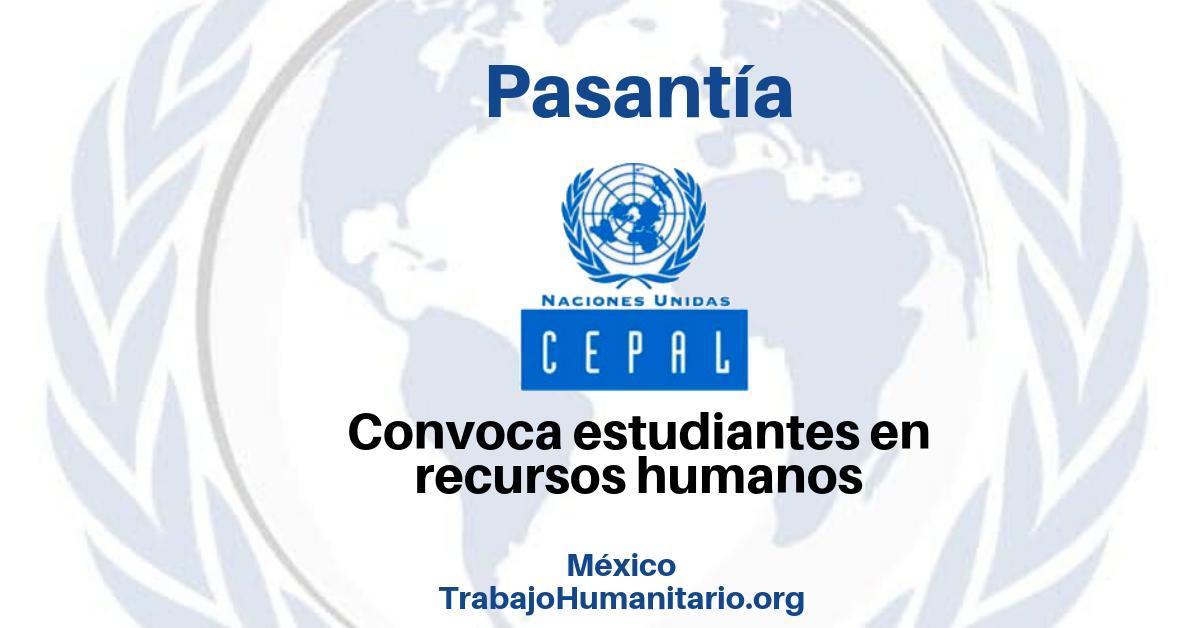 Pasantía con Naciones Unidas CEPAL