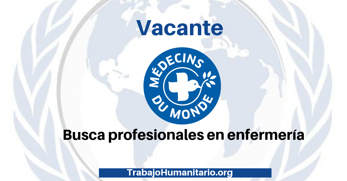 Vincúlate a Médicos del Mundo: Profesionales en enfermería