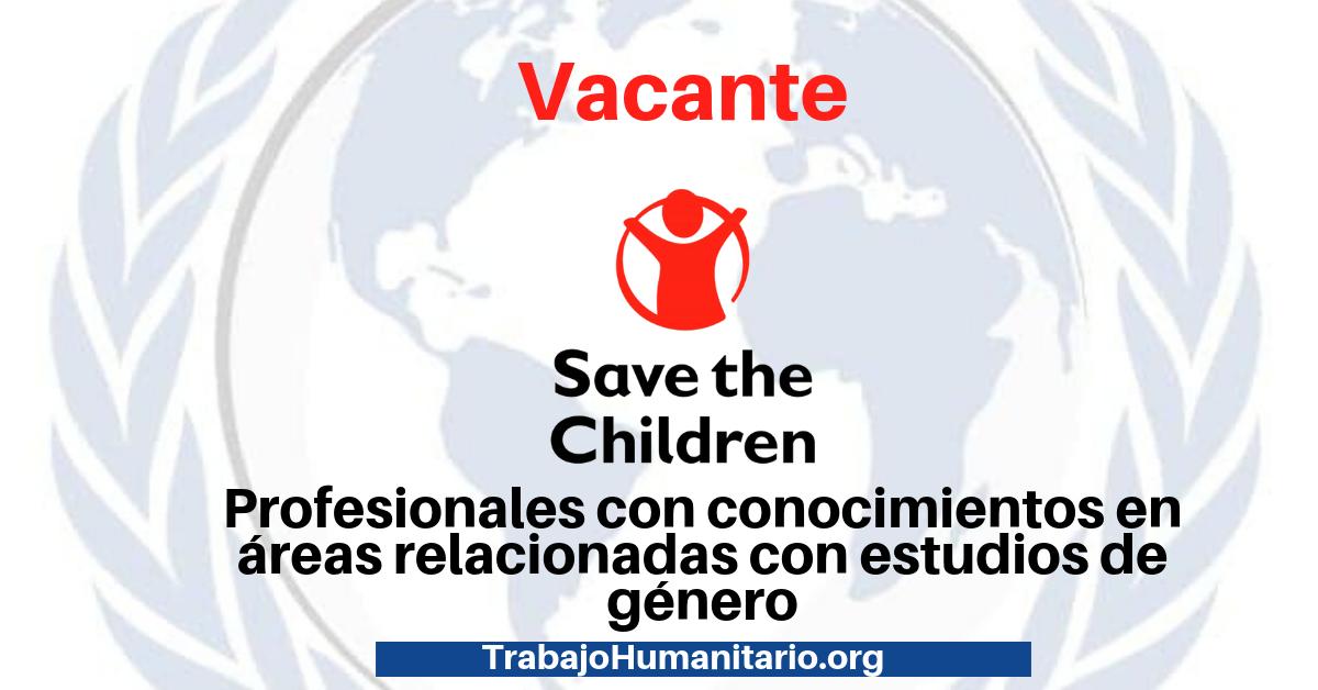 Vacante con Save The Children en género