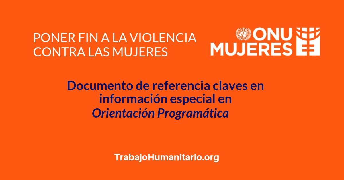 ONU Mujeres, Documentos de Referencia: Poner fin a la violencia contra las mujeres, Orientación Pragmática