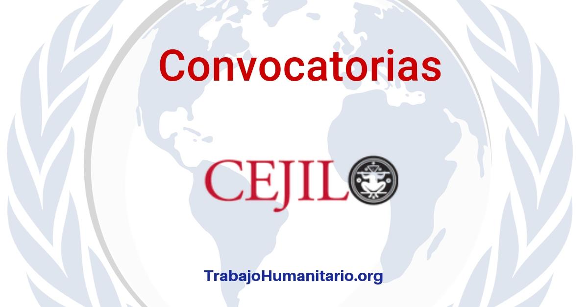 Convocatoria abierta con el CEJIL