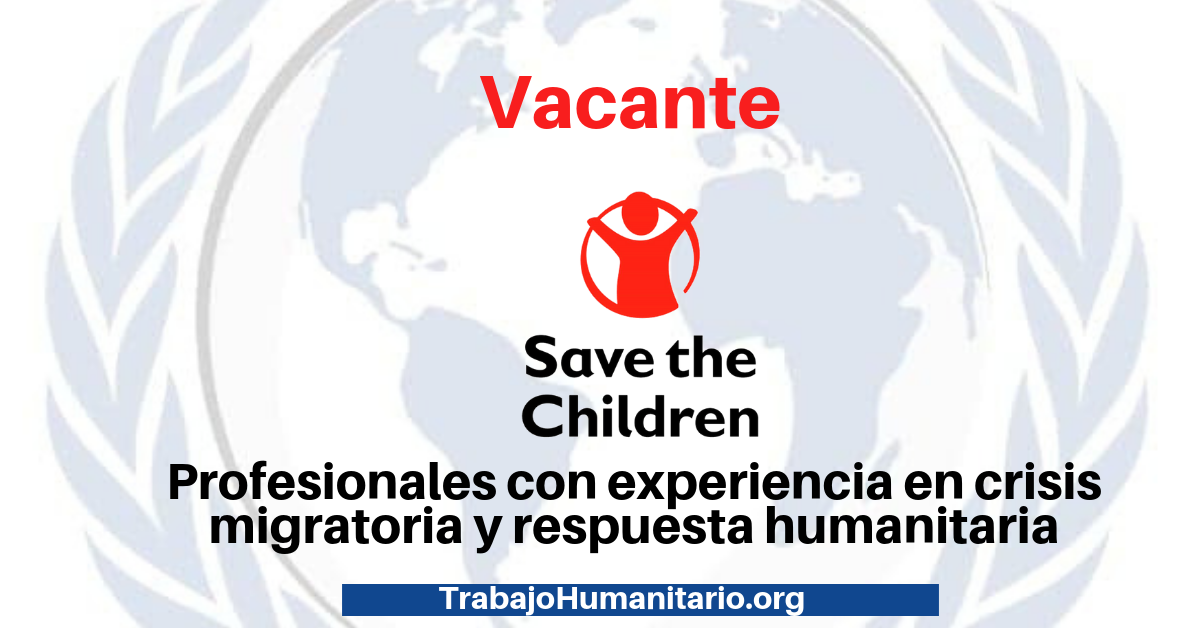 Vacante con Save The Children