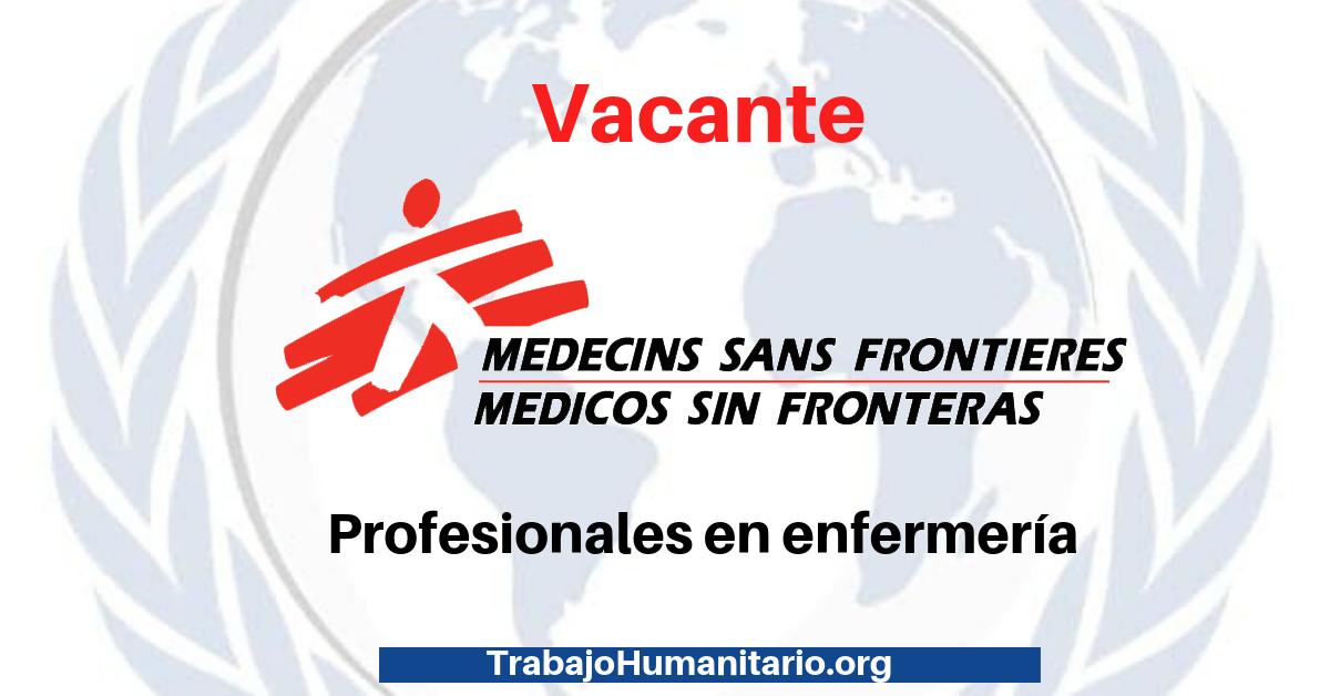 MSF busca profesionales en enfermería