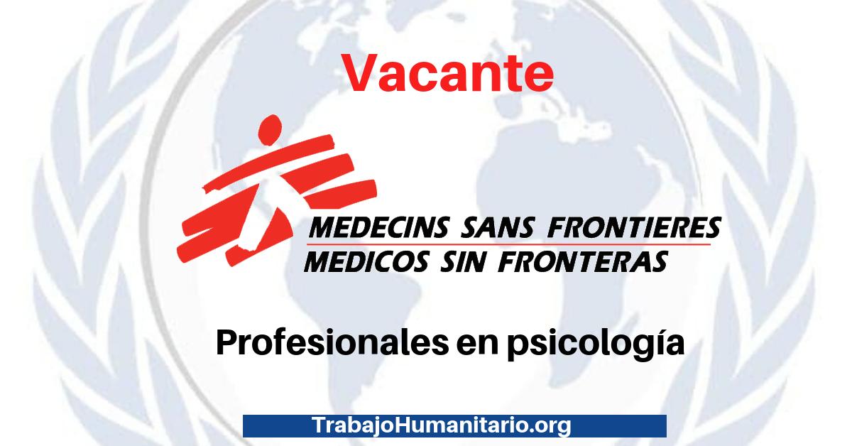 Trabajo con MSF