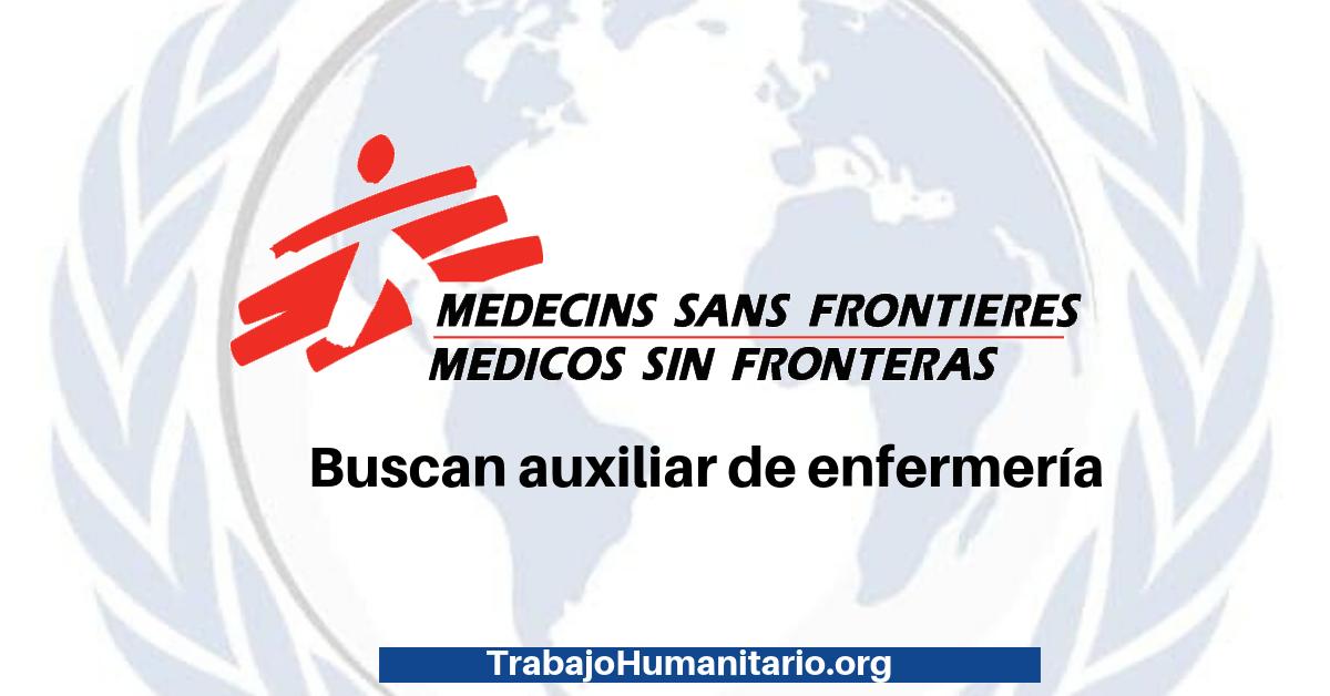 Trabaja con Médicos sin fronteras
