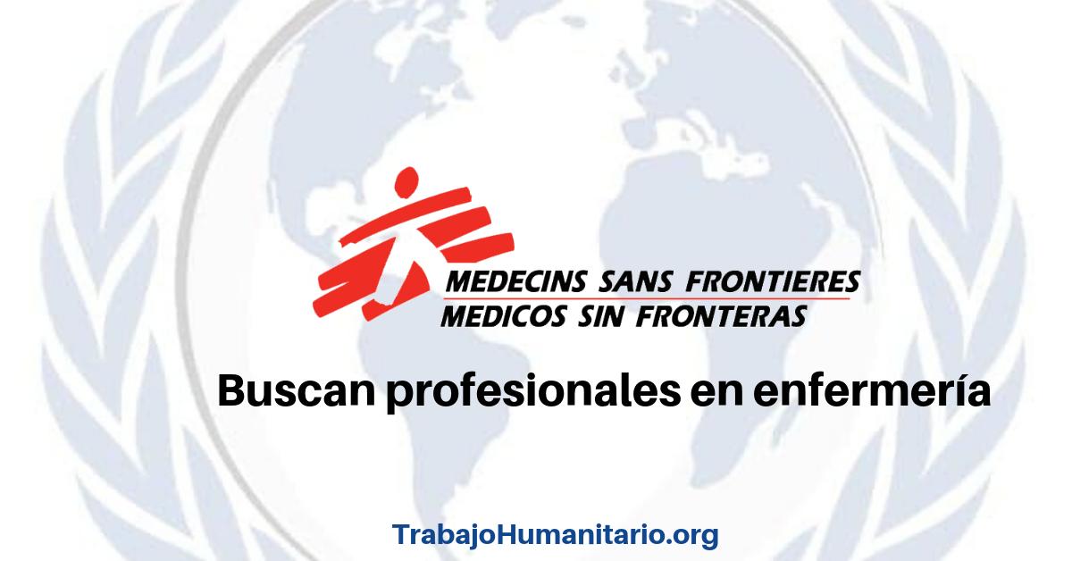 Trabaja con MSF