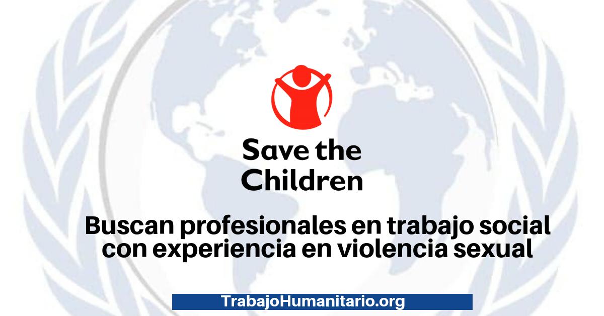 Trabajo con Save The Children