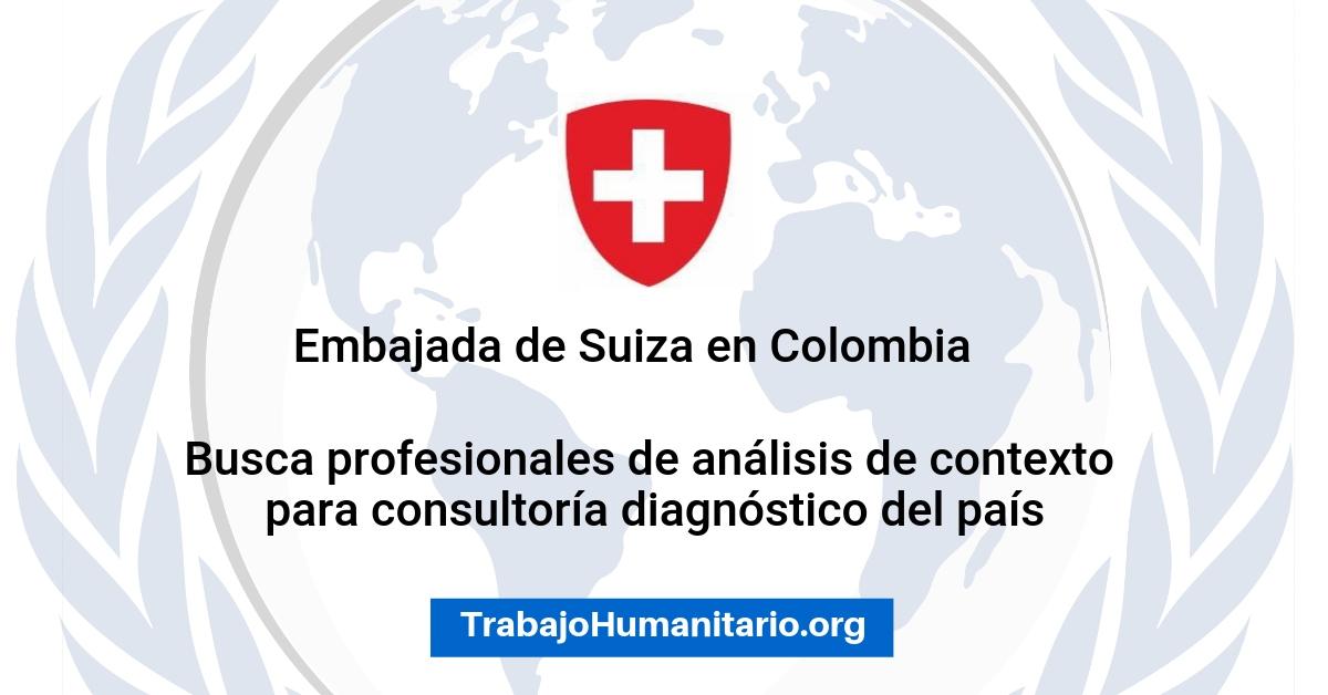 Vacante con la Embajada de Suiza en Colombia