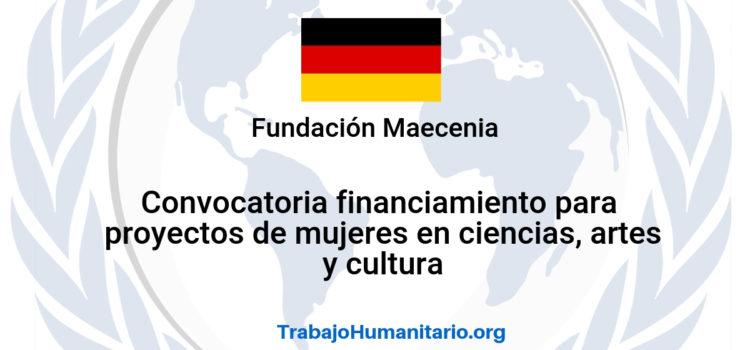 Convocatoria de financiamiento para proyectos de mujeres