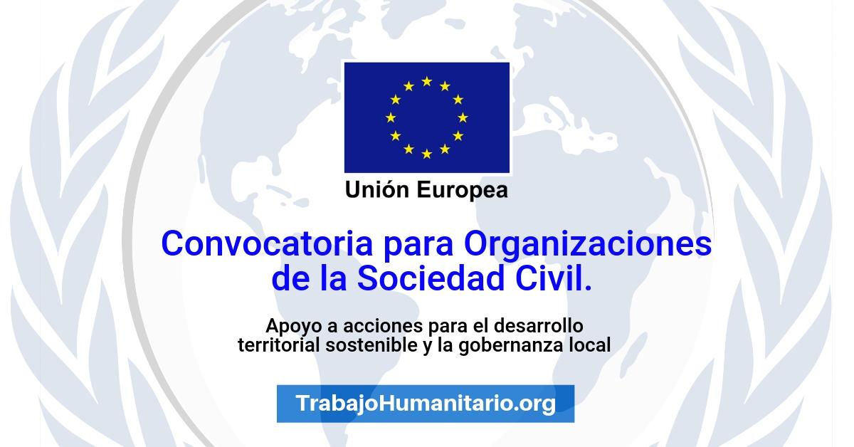 Convocatoria de la UE para Organizaciones de la Sociedad Civil