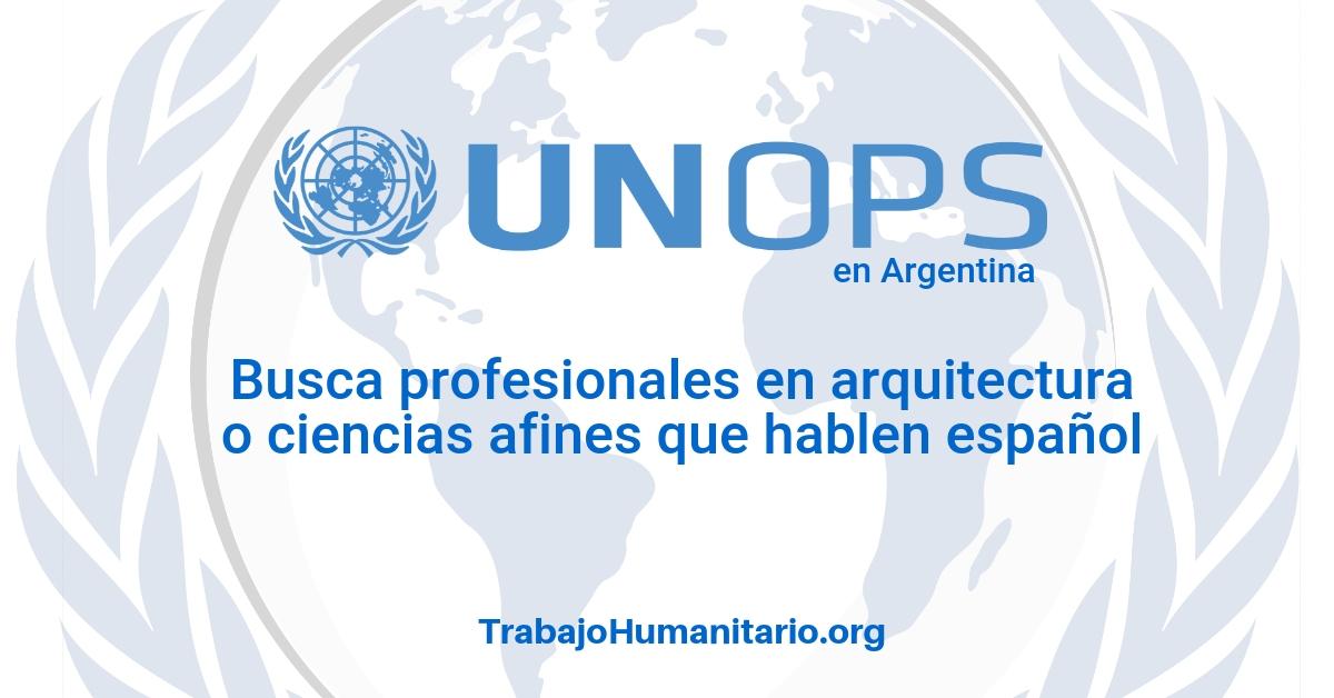 UNOPS busca profesionales para obras de infraestructura