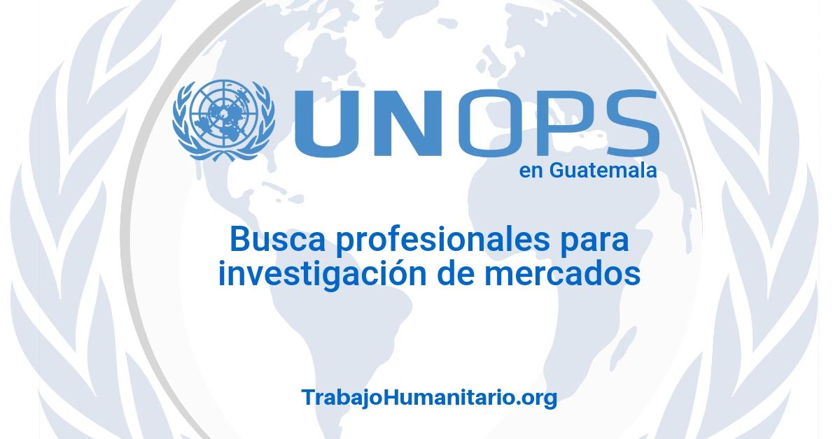 Naciones Unidas – UNOPS busca profesionales para investigación de mercados