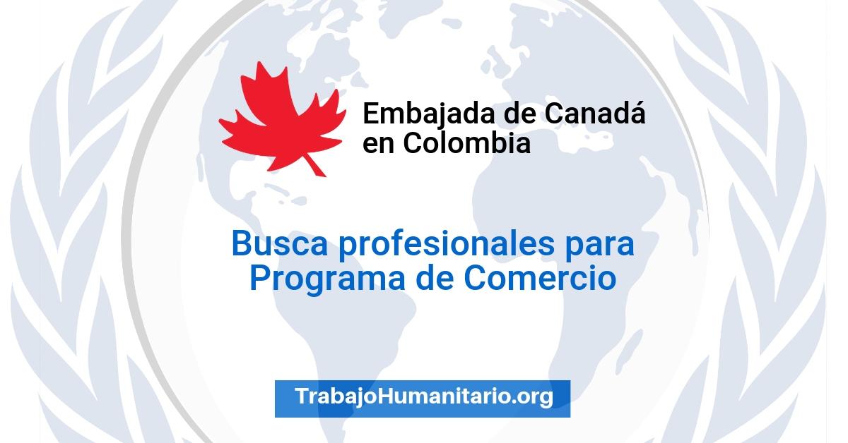 Vacante con la Embajada de Canadá en Colombia