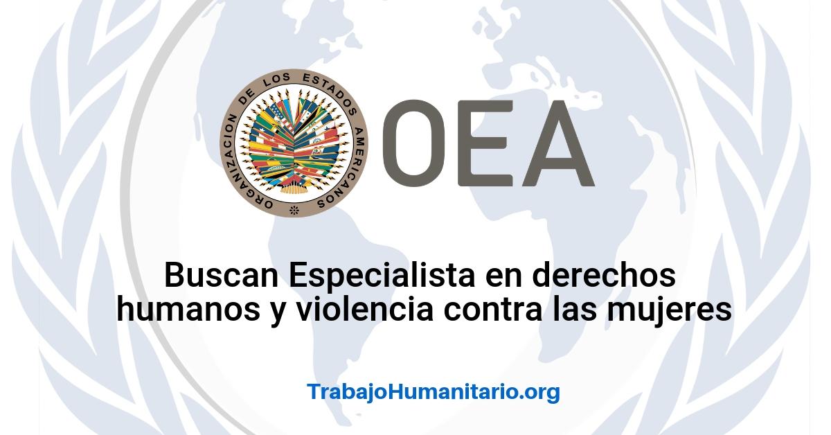 Vacantes disponibles con la OEA