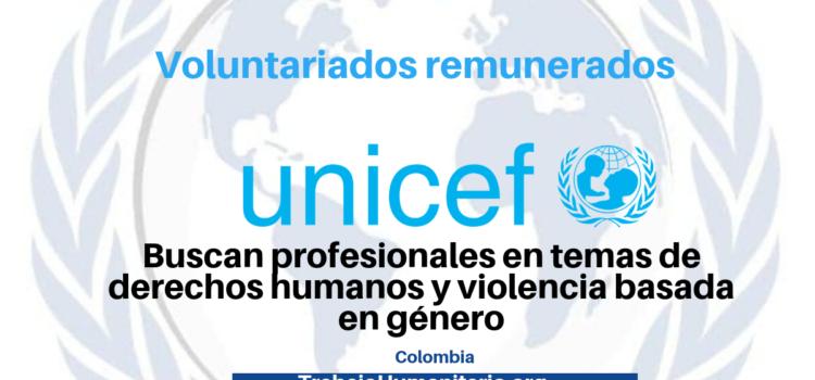 Voluntariados remunerados con UNICEF