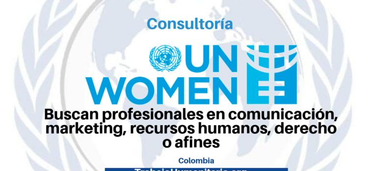 Consultoría con ONU Mujeres busca profesionales en comunicación, marketing, recursos humanos, derecho o afines.