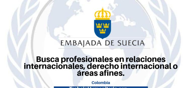 Convocatoria abierta: Embajada de Suecia en Colombia