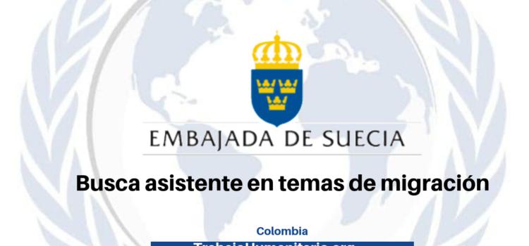 Vacante de la Embajada de Suecia en temas de migración