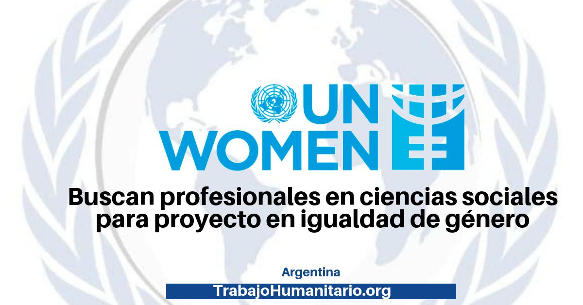 Convocatoria abierta con ONU Mujeres  –  asistencia técnica