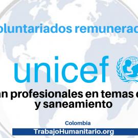 UNICEF: Convocatorias abiertas para voluntariados remunerados