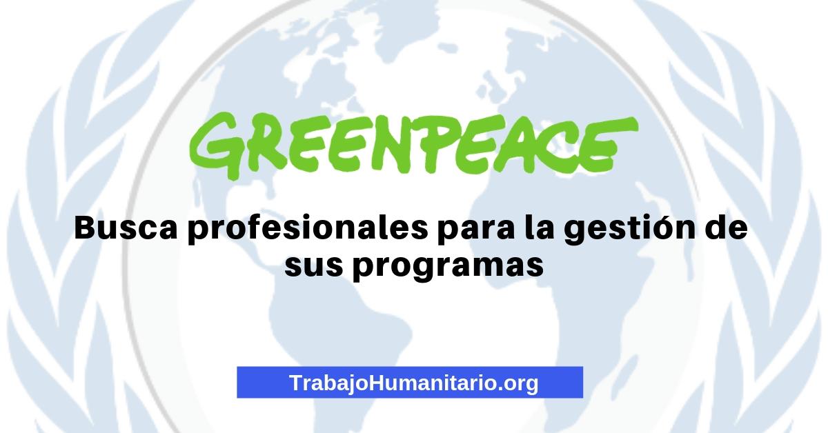 Vacante en Greenpeace Colombia