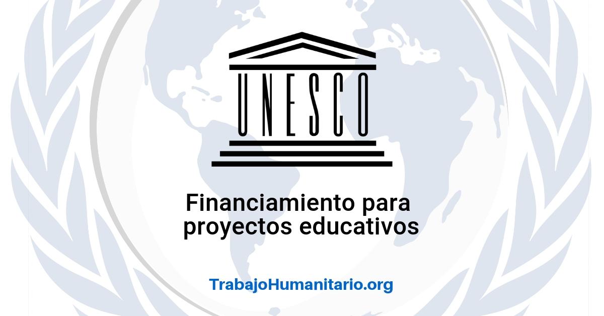 Convocatoria de UNESCO para proyectos de educación
