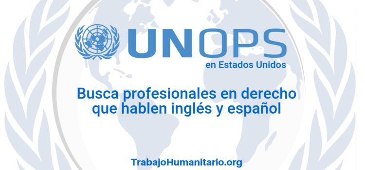 Naciones Unidas – UNOPS busca profesionales en derecho
