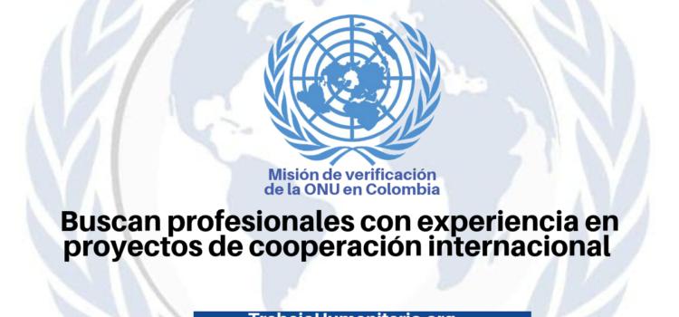 Vacantes con la misión de la ONU en Colombia