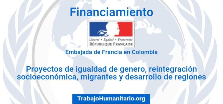 Financiamiento de proyectos sociales de la Embajada de Francia
