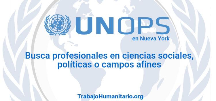 Naciones Unidas – UNOPS busca profesionales en ciencias sociales o afines