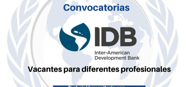 Vacantes con el Banco Interamericano de Desarrollo
