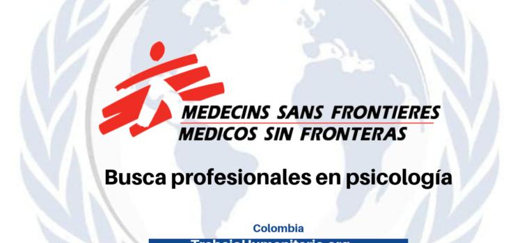 Vacante con MSF – buscan profesionales en psicología