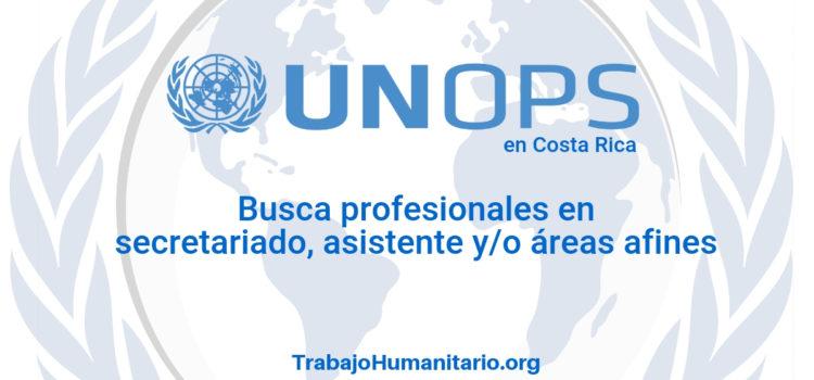 Naciones Unidas – UNOPS busca asistente administrativo