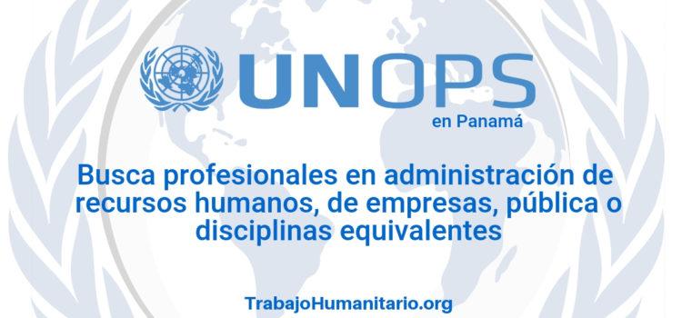 Naciones Unidas – UNOPS busca profesionales en administración de empresas o afines