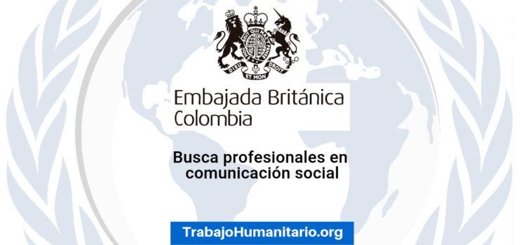 Vacante con la Embajada de Reino Unido en Colombia
