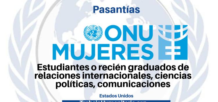 Pasantías con ONU Mujeres en temas de gestión del conocimiento, seguimiento y evaluación