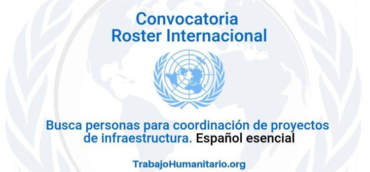 Llamamiento Roster Internacional. Se busca gerentes de proyecto