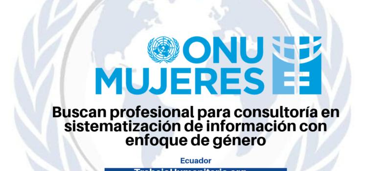 ONU Mujeres busca profesionales en temas de género