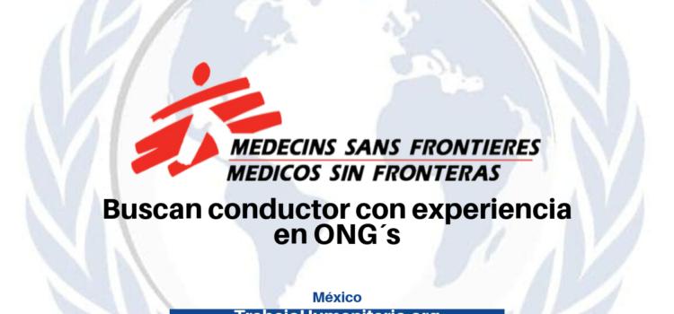 Médicos Sin Fronteras busca conductor