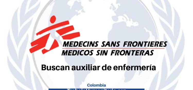 Médicos Sin Fronteras busca auxiliar de enfermería