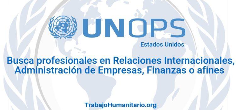 Naciones Unidas – UNOPS busca profesionales con experiencia en relaciones internacionales